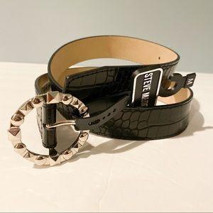 NWT Steve Madden belt croc embossed silver buckle